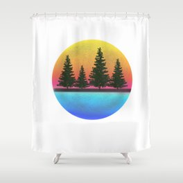 A day in the woods Shower Curtain