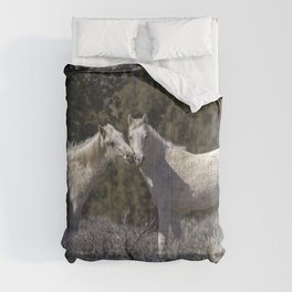 Wild Horses with Playful Spirits No 1 Comforters