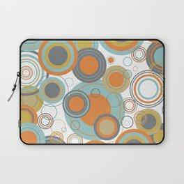 Retro Mid Century Modern Circles Geometric Bubbles Pattern Laptop Sleeve