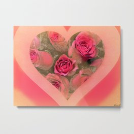 The roses in card (copyright Elize K) Metal Print