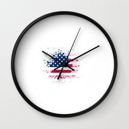 Grunge style american flag background Wall Clock