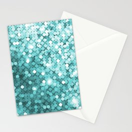 Mermaid glitter Stationery Cards