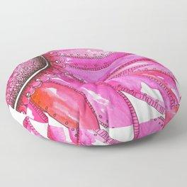 Gerber Daisy Watercolor Print Floor Pillow