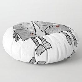 Lovebots Doodle Floor Pillow
