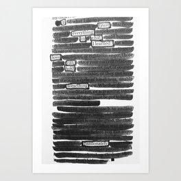 I Trust Art Print