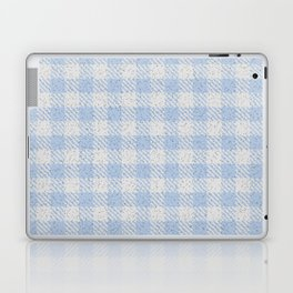 Light Steel Blue Buffalo Plaid Laptop & iPad Skin