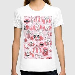 halloween clown pattern T-shirt