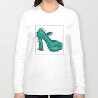 shoe Long Sleeve T-shirts featuring Shoe 2 by AstridJN