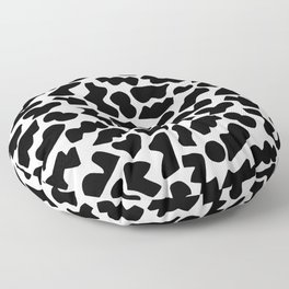 Shapes, Black and White Floor Pillow
