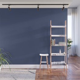 Gallant Dark Blue Solid Color Pairs To Sherwin Williams Dignified SW 6538 Wall Mural