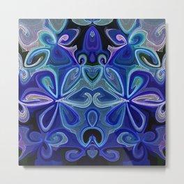Blue Lotus Large Metal Print