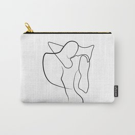 Lovers - Minimal Line Drawing 1 Carry-All Pouch