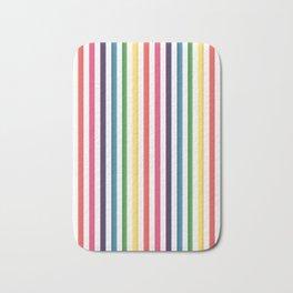 Gorgeous Colorful Stripes LOVE Typography Bath Mat