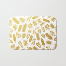 el dorado // gold leaf pattern Bath Mat