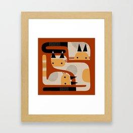 SIMPLE THREE Framed Art Print