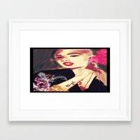 iggy azalea Framed Art Prints featuring Iggy Azalea by The Expression Studio