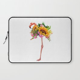 Flamingo with Sunflowers Crown Laptop Sleeve