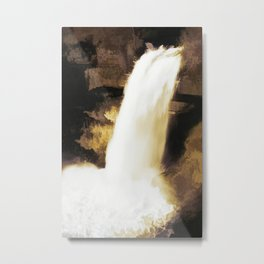 Waterfall with Digital-Modification Metal Print