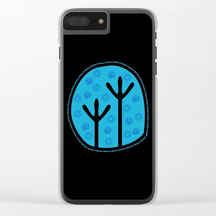 Emu Tracks Australian Aboriginal Style 2 Clear iPhone Case