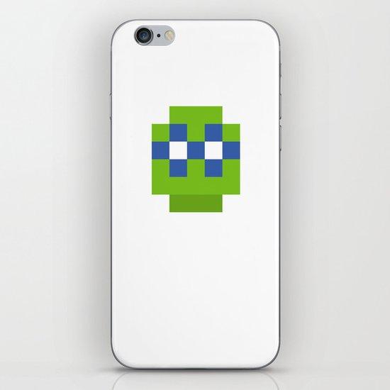 hero pixel green blue iPhone & iPod Skin