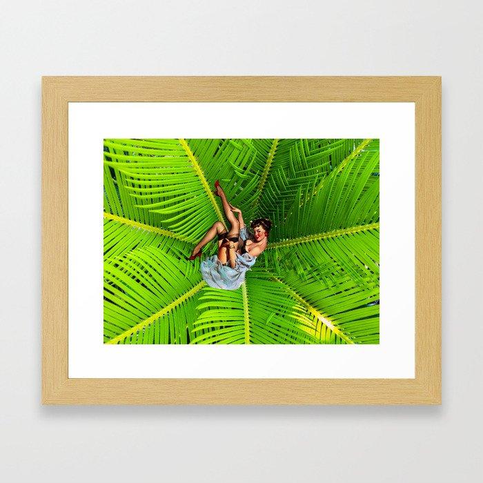 Garden Pinup Framed Art Print