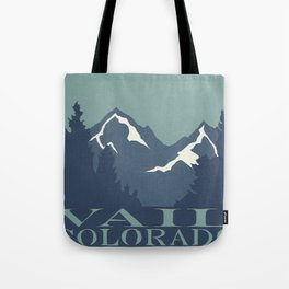Rocky Mountains, Vail, Colorado Papercut Tote Bag