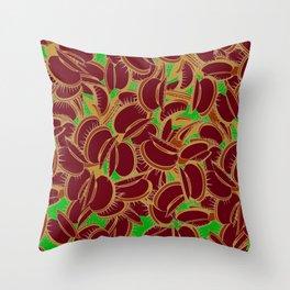Funky Venus Flytrap Throw Pillow
