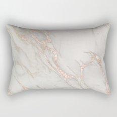 Marble Rose Gold Blush Pink Metallic by Nature Magick Rectangular Pillow