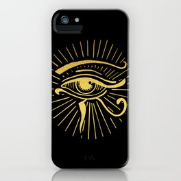 Gold Egyptian Eye iPhone Case