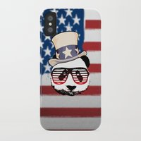 patriotic iPhone & iPod Cases featuring Patriotic Panda by crayzeestuff