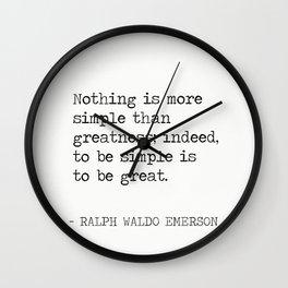 RALPH WALDO EMERSON quote 2 Wall Clock