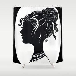 Old Fashioned Vanity Shower Curtain