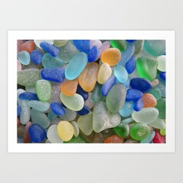 Sea Glass Bliss Art Print