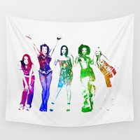 spice Wall Tapestries featuring Spice Girls. by Greg21