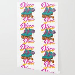 Disco Diva Roller Skates Wallpaper