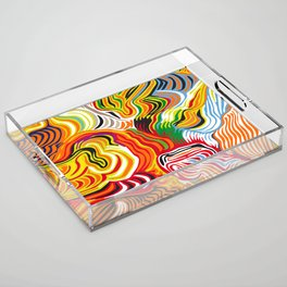 colored flow Acrylic Tray