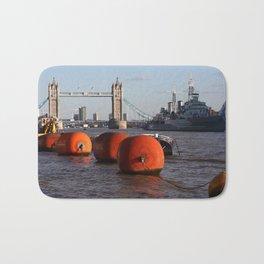 The River Thames, London, England Bath Mat