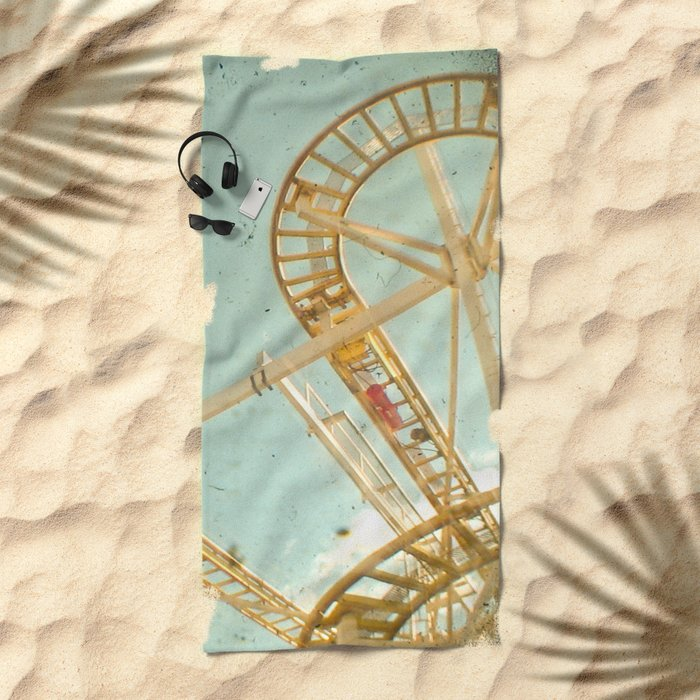 Tracks Beach Towel