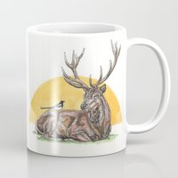 stag Mugs featuring Stag by Meredith Mackworth-Praed
