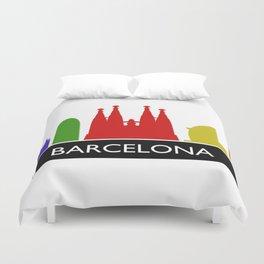 barcelona skyline Duvet Cover