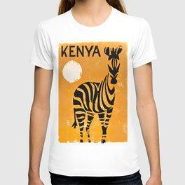 Kenya Vintage Travel Poster T-shirt