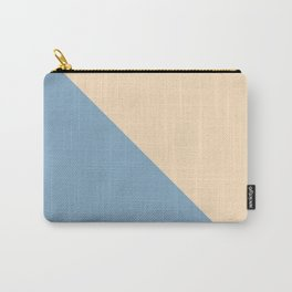 blue and beige triangular background Carry-All Pouch