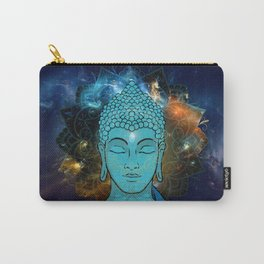 Blue Face of Buddha in the Galaxy Carry-All Pouch