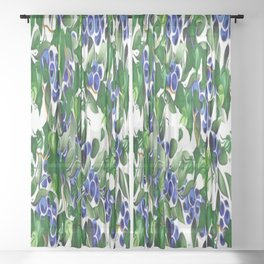 Blueberries and Ivy Sheer Curtain