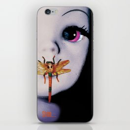 Silence of the lambs - film poster spoof iPhone Skin
