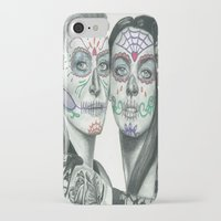 lindsay lohan iPhone & iPod Cases featuring Meryl Streep and Lindsay Lohan  by Jimmy Lee