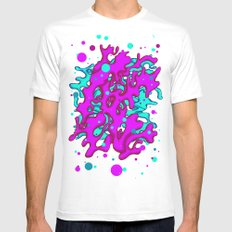 Bubble Gum Pop! White Mens Fitted Tee MEDIUM