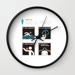 How to Be a Man Wall Clock