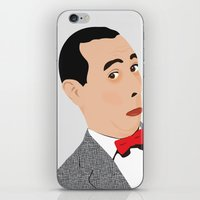 pee wee iPhone & iPod Skins featuring pee-wee by Britt Whitaker Design