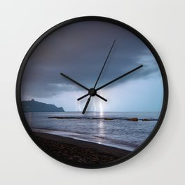 Lightning in an apprently quiet atmosphere Wall Clock